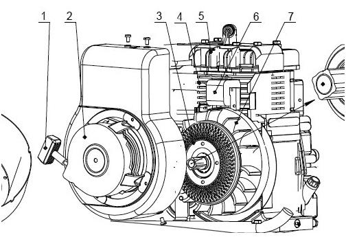схема двигателя мотокультиватора